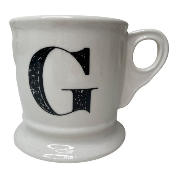 Anthropologie G Monogram Mug Initial Coffee Mug